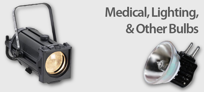 Medical, Dental, Stage, Studio, DJ, and Other Lighting Lamps