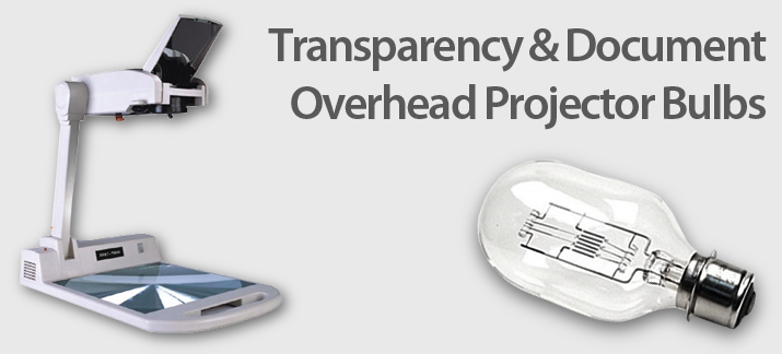 Transparency and Document Overhead Projector Lamps