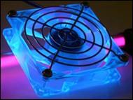 90/92mm Crystal Fan - UV Blue
