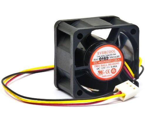 Evercool 40x40x28mm, 12v Cooling Fan - EC4028HH12BA