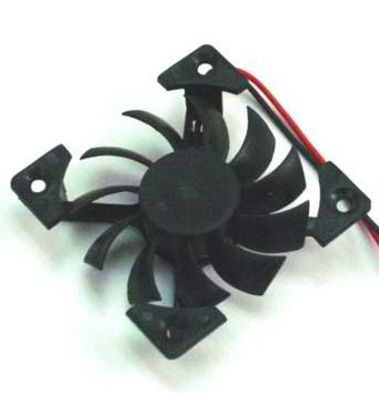 Evercool 45x45x10mm, 12v X Type Suspension Frame Fan  - EC4510M12S-X