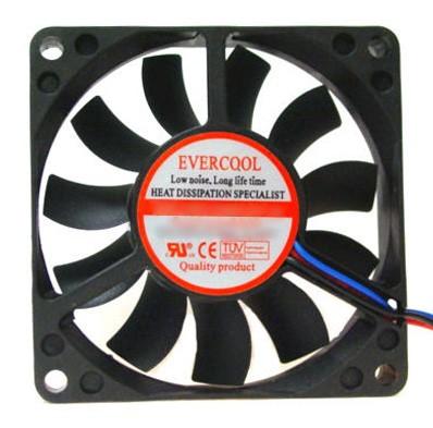 Evercool 70x70x25mm, 12v Cooling Fan - EC7025M12CA