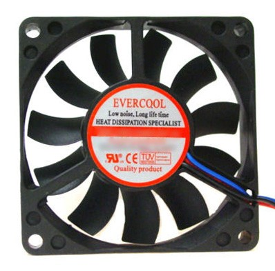 Evercool 70x70x25mm, 12v Cooling Fan - EC7025L12S