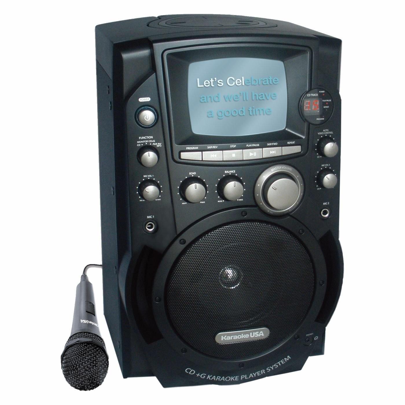 Karaoke USA GQ753 CD+G Karaoke System with 5.5in Screen