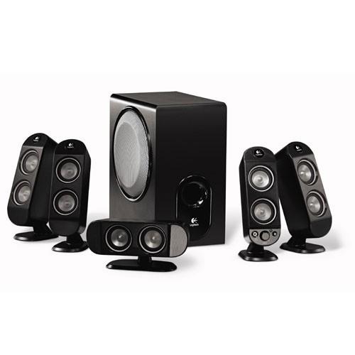 logitech x 530 5 1 surround sound speaker system. Black Bedroom Furniture Sets. Home Design Ideas