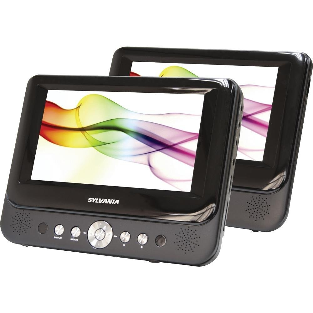Sylvania SDVD8727 7 Inch Dual Screen Portable DVD Player