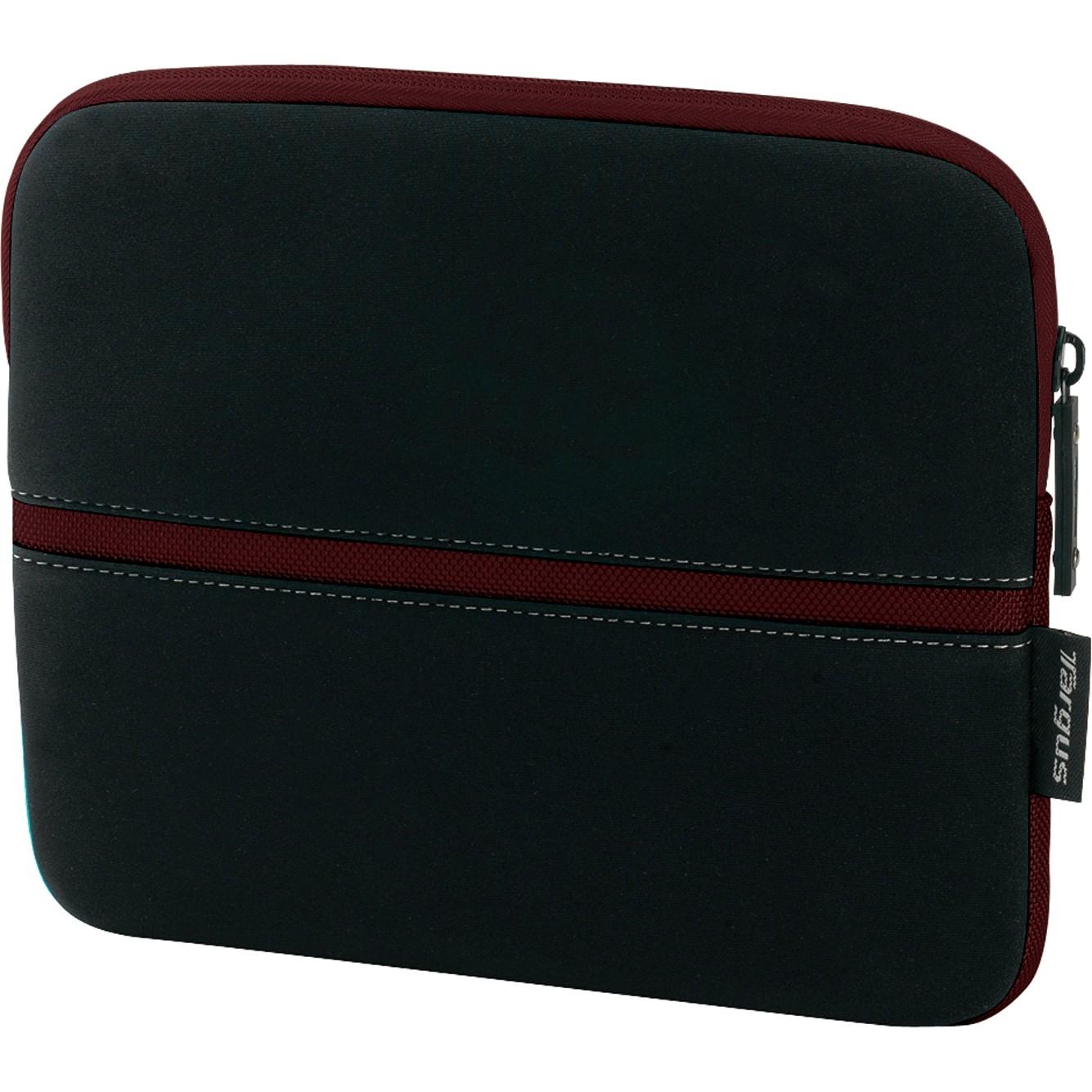 Targus 10.2in Slipskin Peel Netbook Sleeve - Black/Burgundy