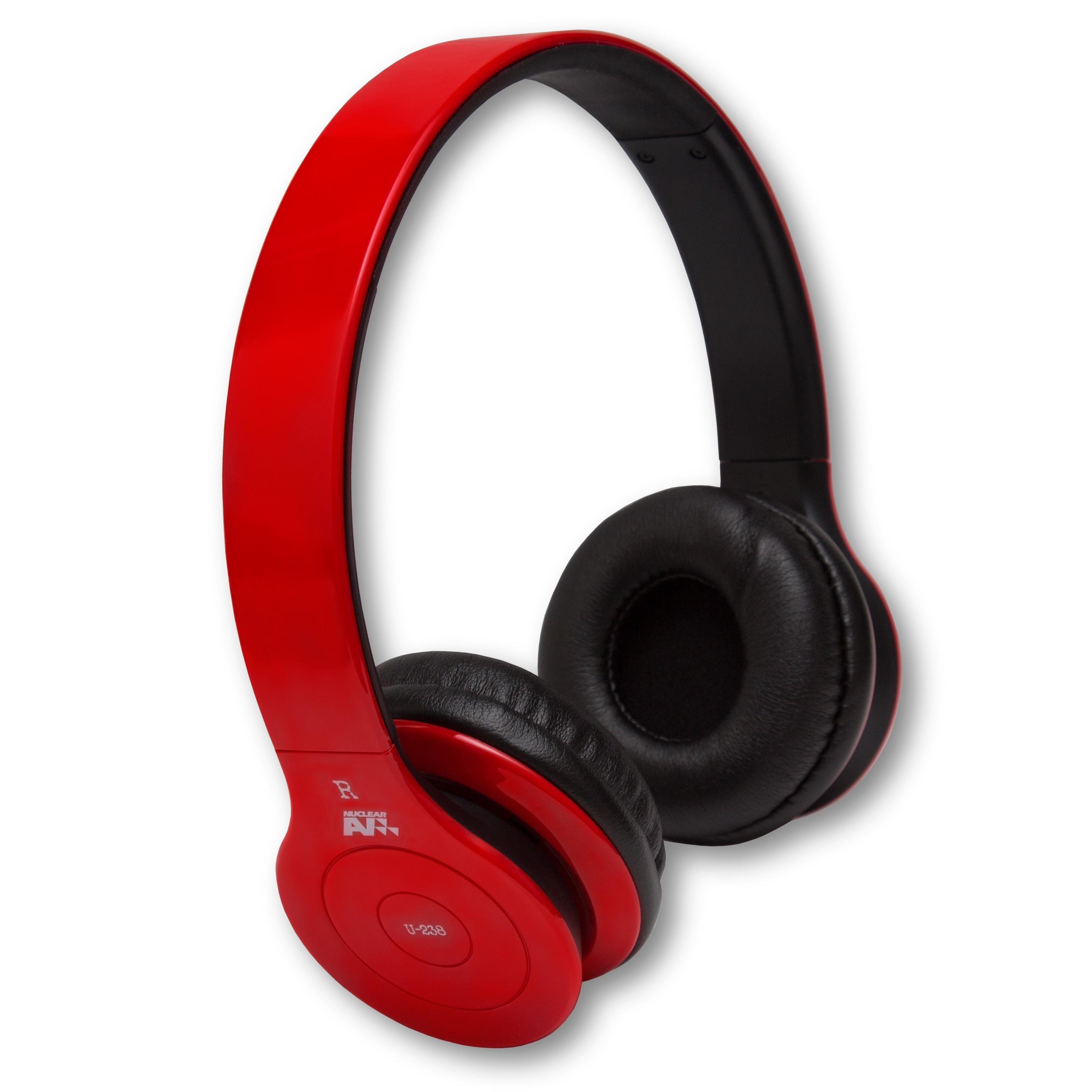 NuclearAV U-238 Uranium Series Bluetooth Headphones - Red