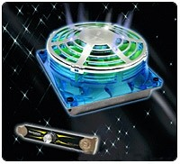 Thermaltake UFO Fan 90/92mm w/ 80mm Adapter & Fan Speed Controler - UV Blue