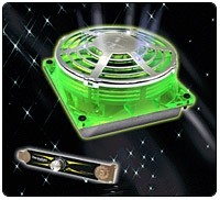 Thermaltake UFO Fan 90/92mm w/ 80mm Adapter & Fan Speed Controler - UV Green