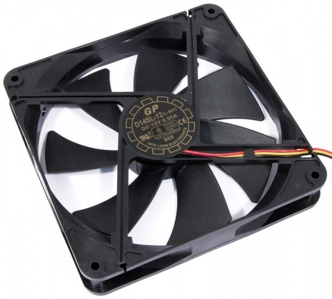 Yate Loon 140x25mm, 47cfm Ultra Quiet Cooling Fan - D14SL-12