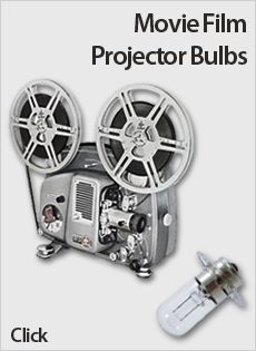 8mm, 16mm, 35mm Movie Film Projector Bulbs