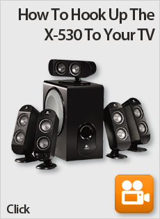 How To Hook Up The Logitech X-530 Speaker System To Your TV